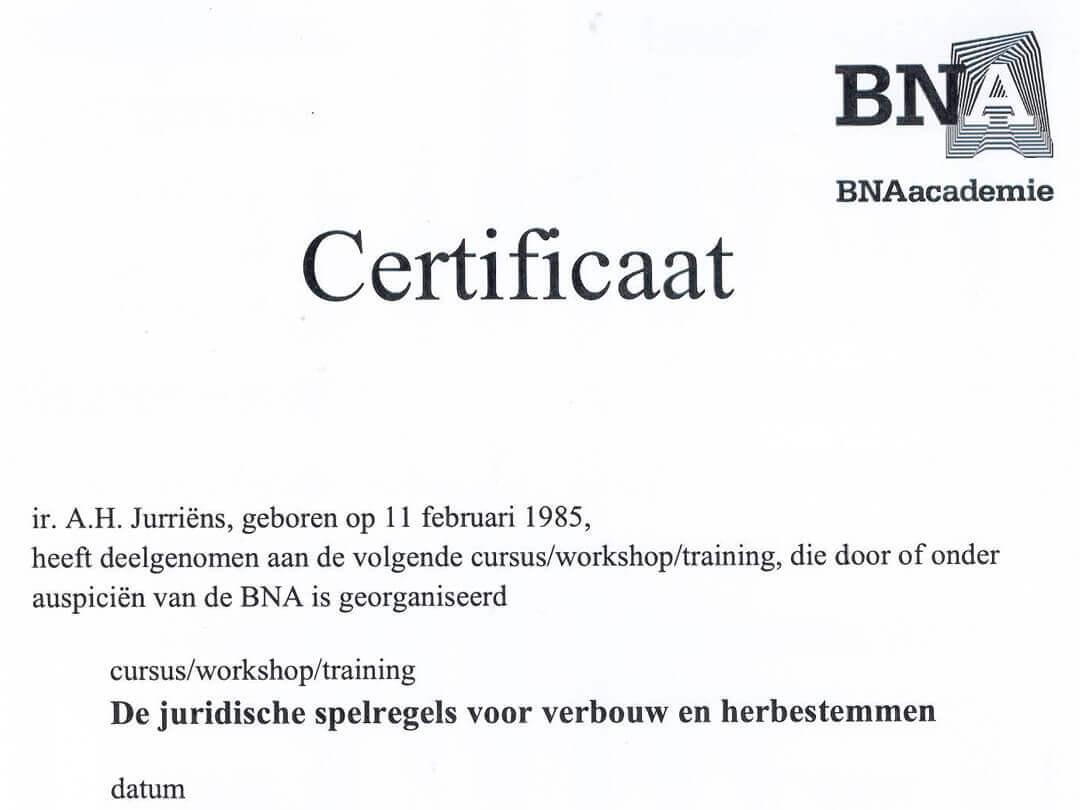 Certificaat: Juridische spelregels voor verbouw en herbestemmen