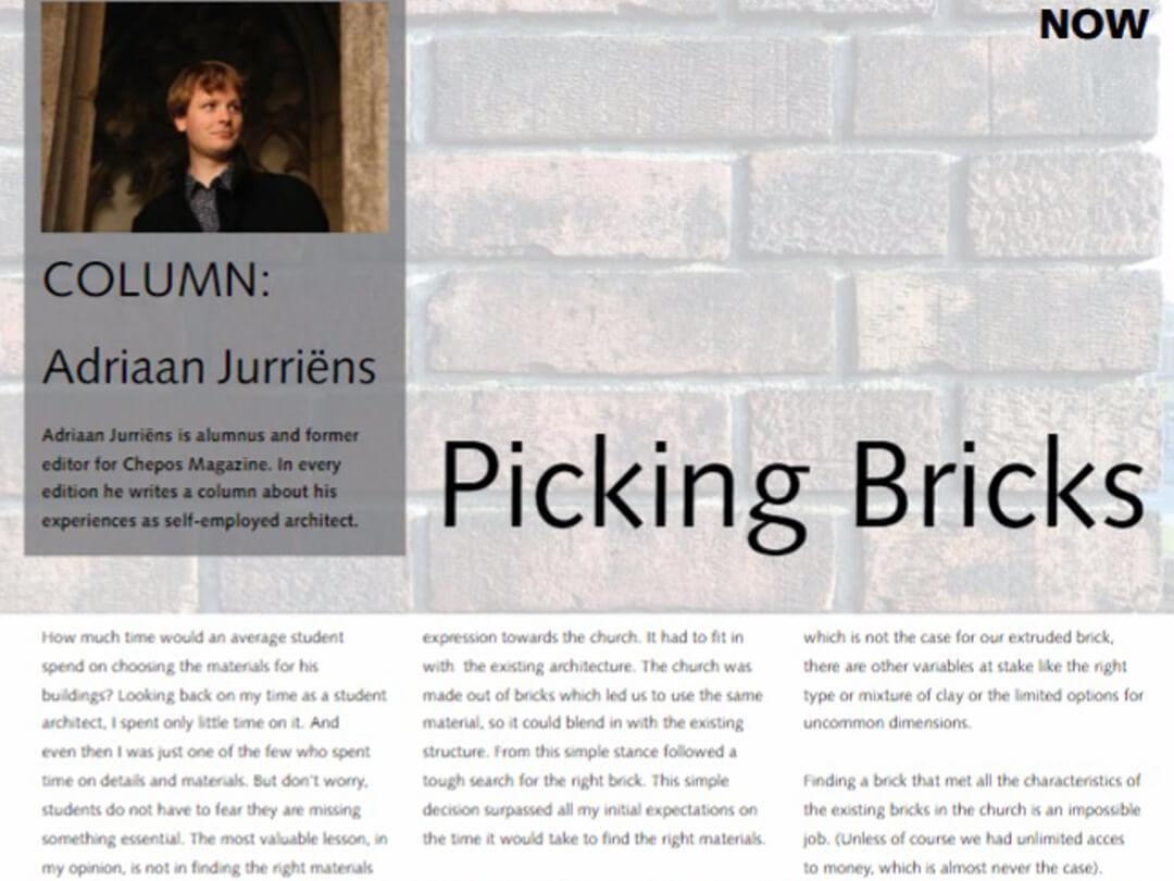 Column: Picking Bricks (Bakstenen kiezen)