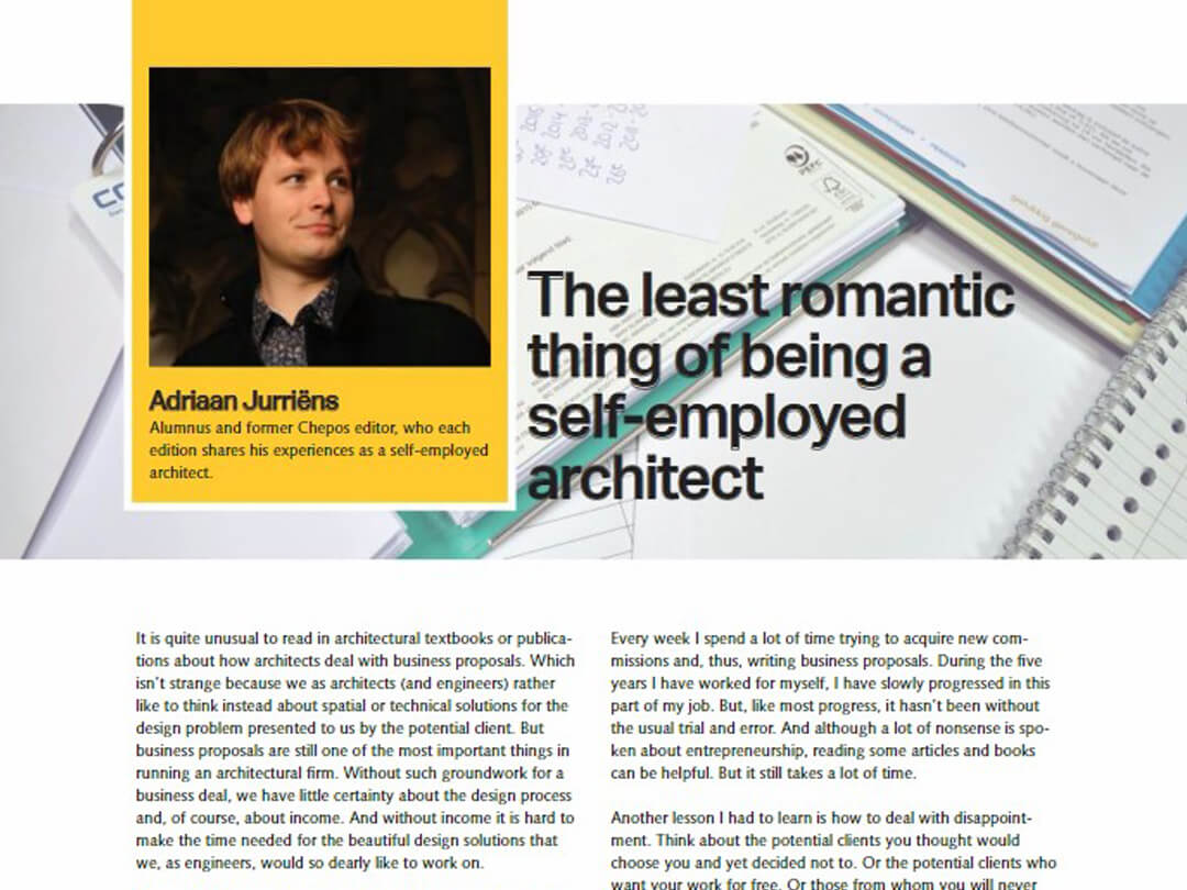 """Column: """"The least romantic thing of being a self-employed architect"""""""